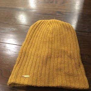 Free People Mustard Yellow Soft Knit Beanie